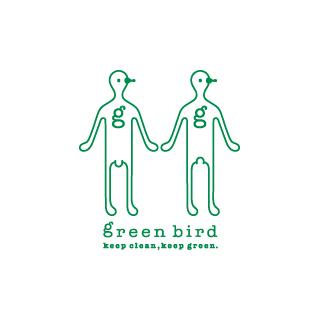 Green Birdのロゴ鳥人ヘンテコかわいいイラストロゴロゴストック